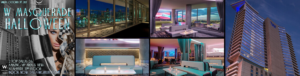 W Dallas Hotel Halloween Rooftop Party Events
